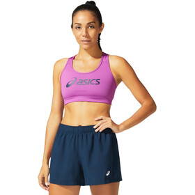 asics Logo Bra Women, digital grape/french blue